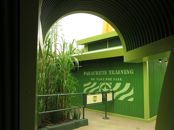 Parachute Training at Hong Kong Disneyland