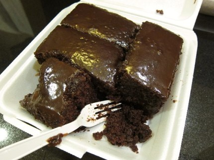 Tita's Grill Chocolate Cake North Shore Oahu Hawaii