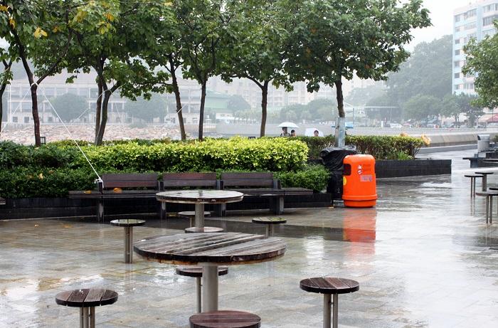 Tables at Stanley Bay Hong Kong