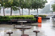 Tables at Stanley Bay Hong Kong