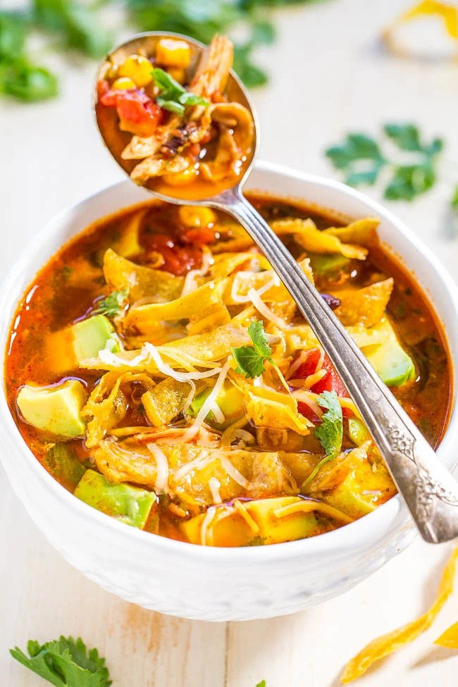 30 Minuten Küche Easy Cooking Easy 30-minute Homemade Chicken Tortilla Soup - Averie Cooks