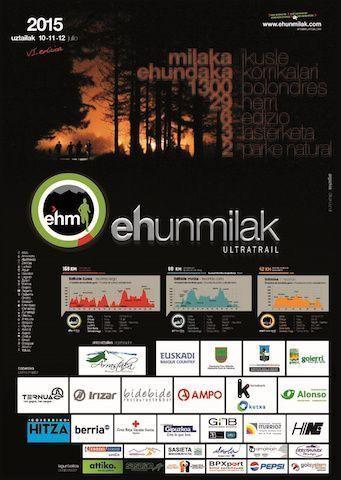 Ehunmilak 2015 Cartel oficial carreras 42k 88k 168k
