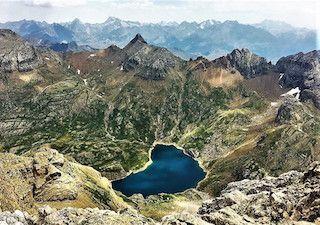 canfranc canfranc panoramica ibon de ip desde cima Collarada Foto Mayayo