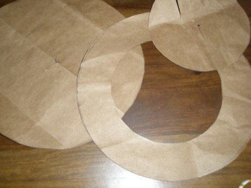 cut center circle out to make second pattern piece