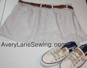A Dress Shirt Skirt Tutorial