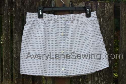 Avery Lane Sewing Blog A Button Down SKirt Upcycle Sewing Tutorial