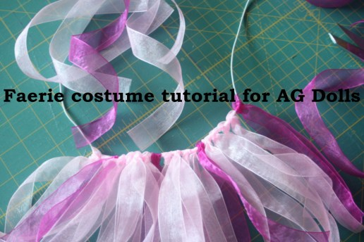 A Faerie costume for dolls tutorial for kids to do