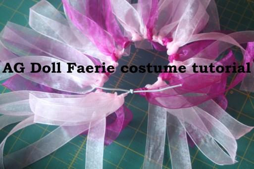 Easy Faerie costume for dolls tutorial for kids
