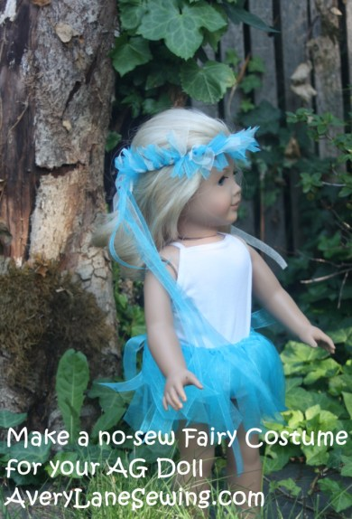 make a fairy costume for AG Dolls no-sew for kids to do