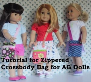Zipper Hip Purse for dolls