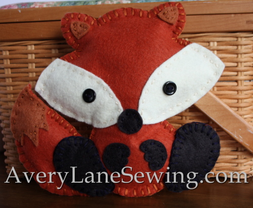 baby-fox-felt-project-for-kids-to-sew-hand-sewing-pattern-by-avery-lane-on-etsy