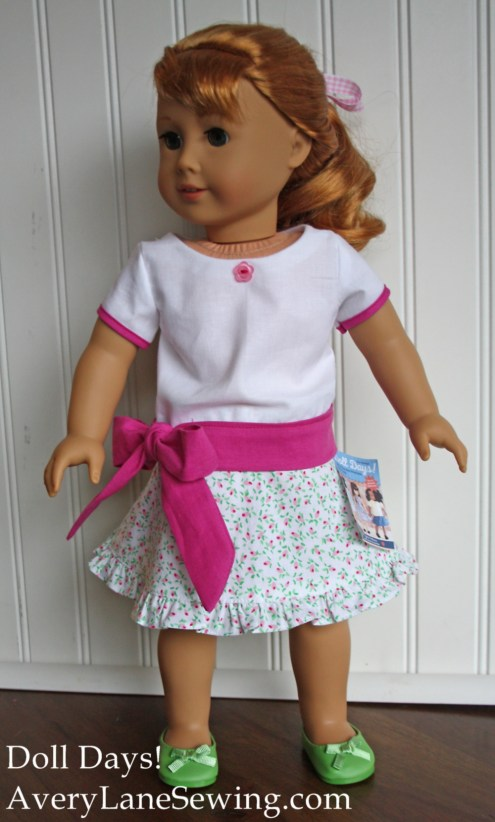 Tie-waist Shirt for AG Dolls from Doll Days by AveryLaneSewing