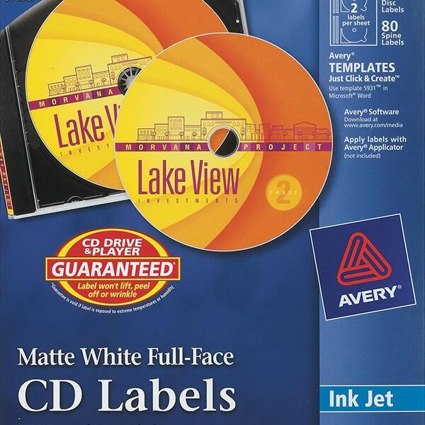 Avery® Matte White Full-Face CD Labels-8960 - Avery Online Singapore