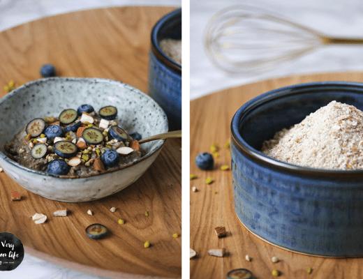 Veganes Instant Oatmeal, das schnelle Frühstück