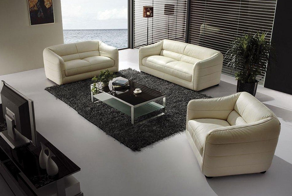 Beige Ledercouch Beige Leather Sofa Set Vg71 | Leather Sofas