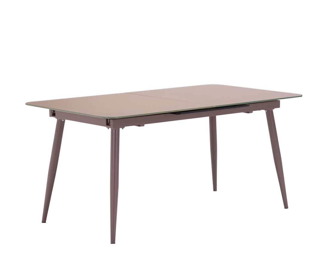Extension Dining Table Modern Extension Mocha Glass Table Z132 Modern Dining