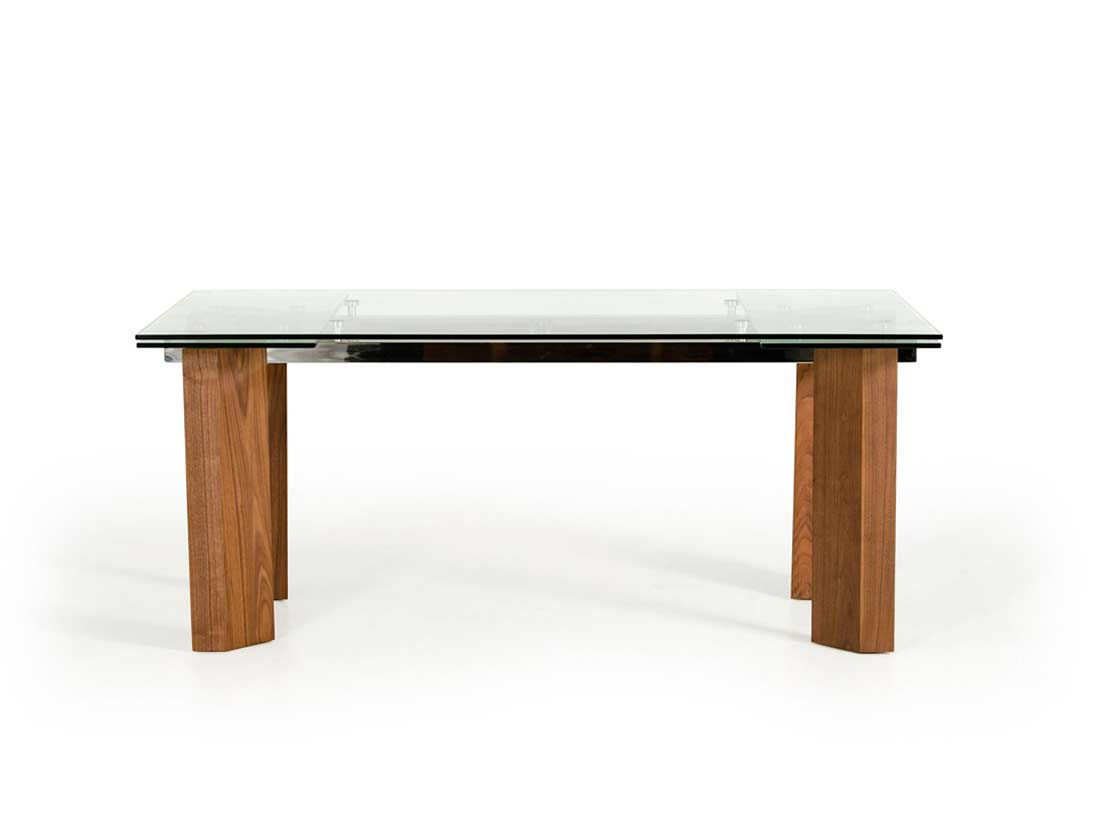 Italian Glass Dining Table Extendable Extendable Glass Top Dining Table Vg 048 Modern Dining