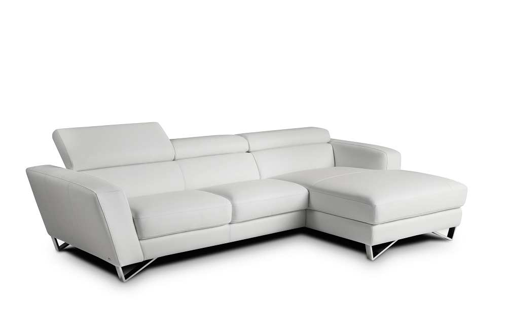 Mini Couch Mini Sparta White Leather Sectional Sofa | Leather Sectionals