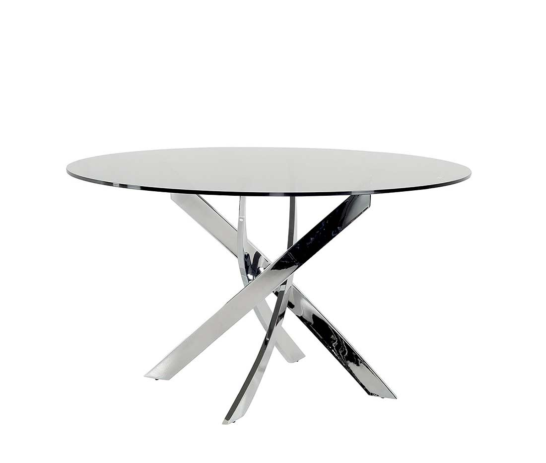 Round Glass Dining Table Smoked Glass Round Dining Table Vg087 Modern Dining