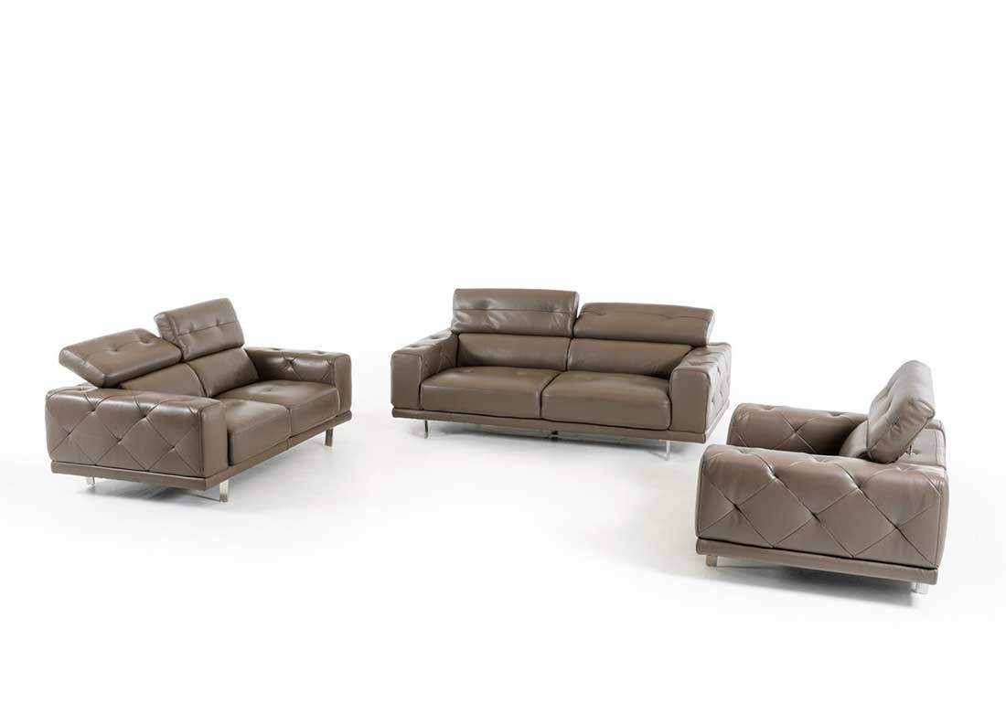 Sofa Set Grau Dark Grey Leather Sofa Set Vg116 Leather Sofas