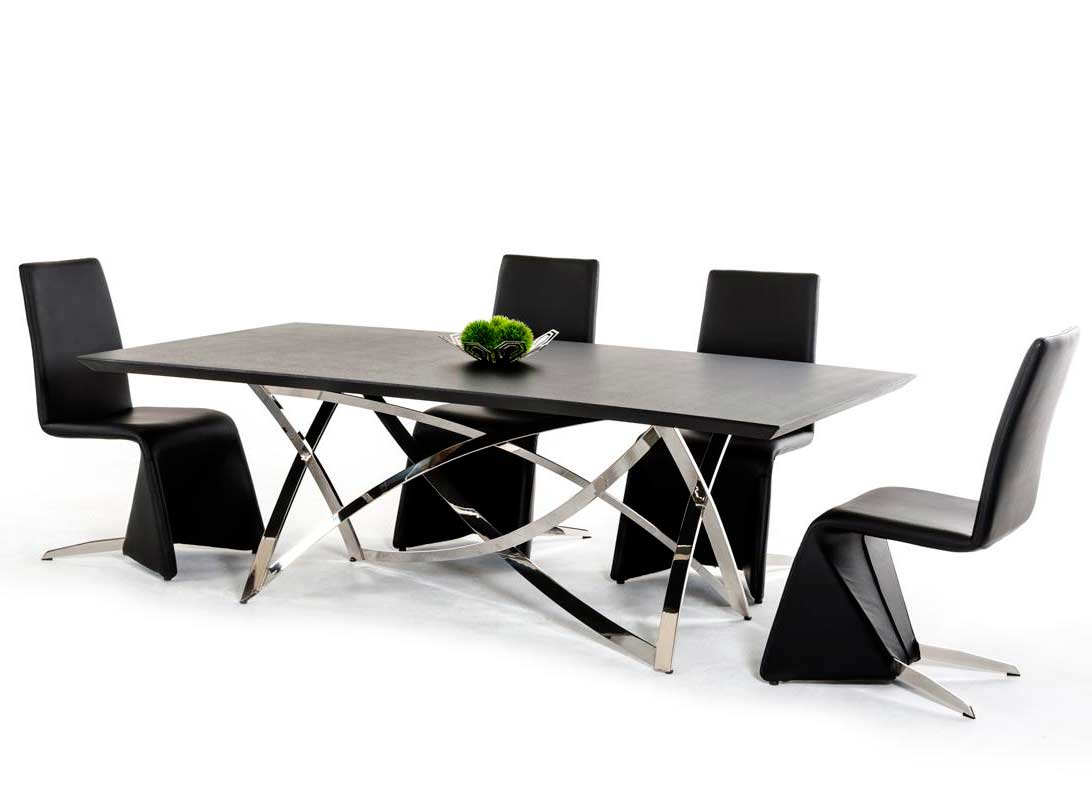 Modern Table Chairs Contemporary Dining Table Vg120 Modern Dining