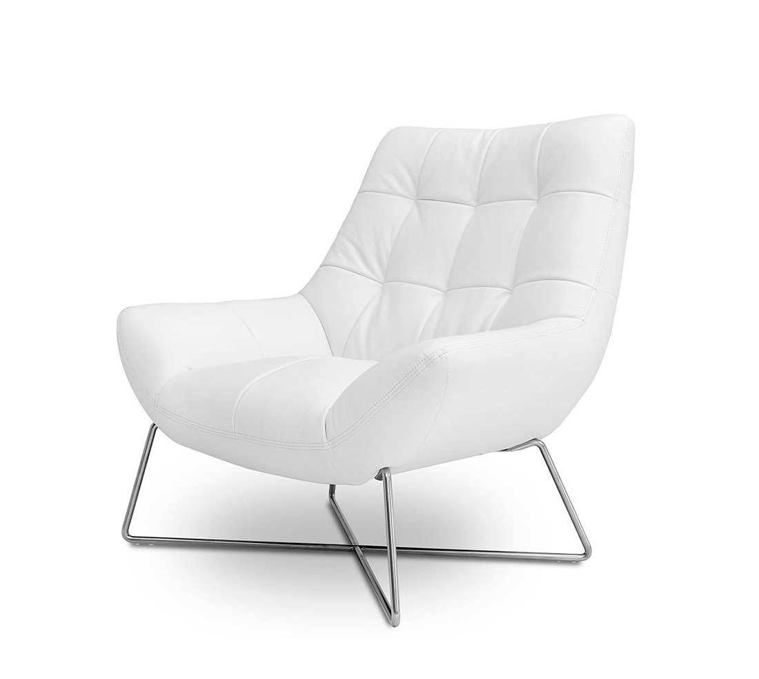 White Modern Chair Modern White Tufted Occasional Chair Vg728 Accent Seating