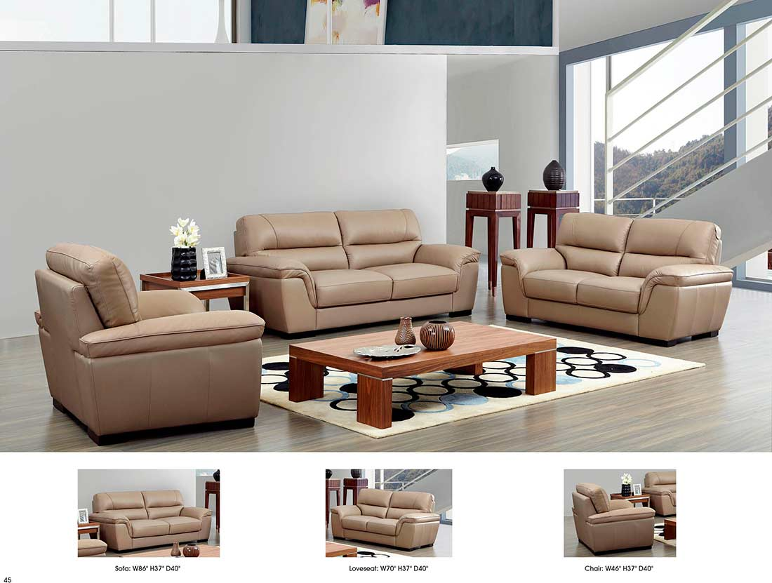 Beige Ledercouch Beige Leather Sofa Ef052 | Leather Sofas