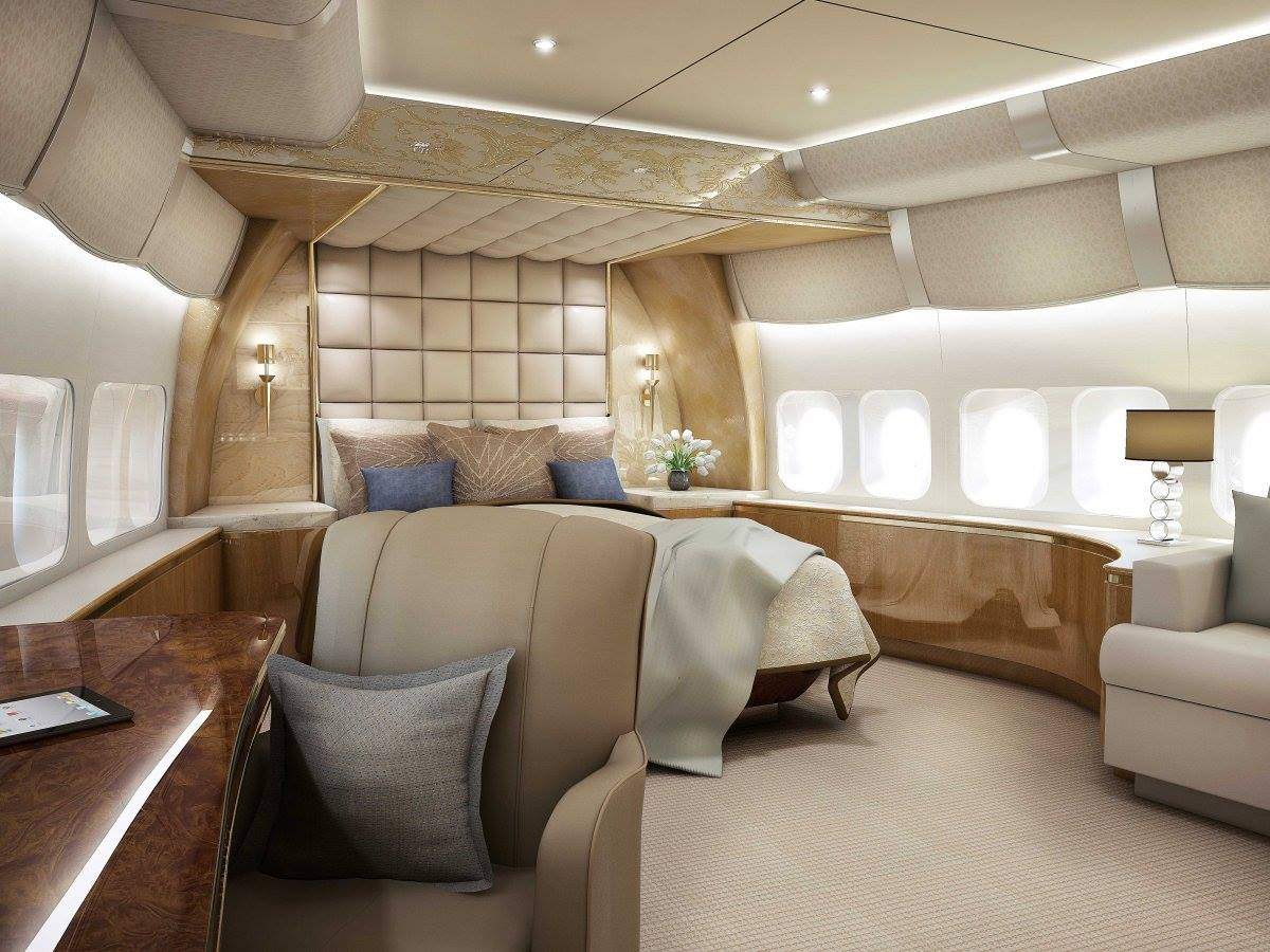 Airplane Bedrooms Inside Of Boeing 747 8 Private Jet Aviation Blog