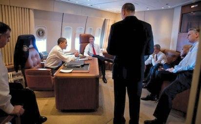 Obama aboard AF One
