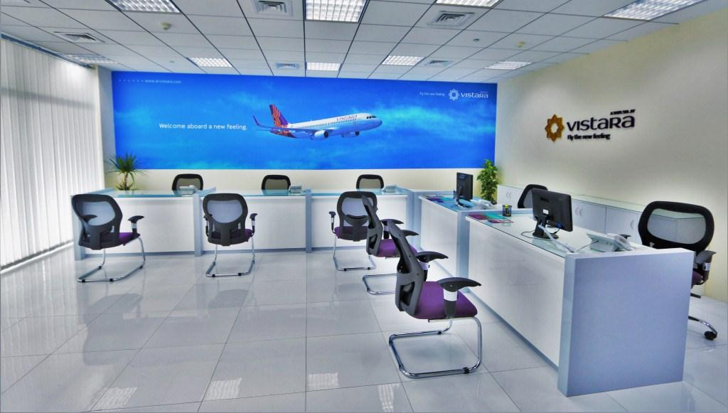 Vistara 39 s grand opening in dubai aviator flight for Interior design travel agency office