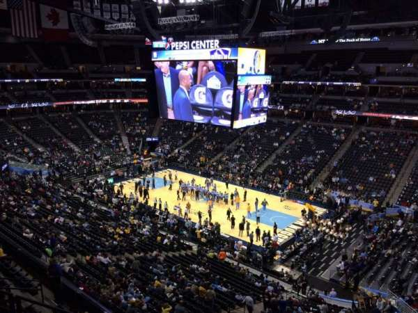 Pepsi Center, section 373, home of Denver Nuggets, Colorado