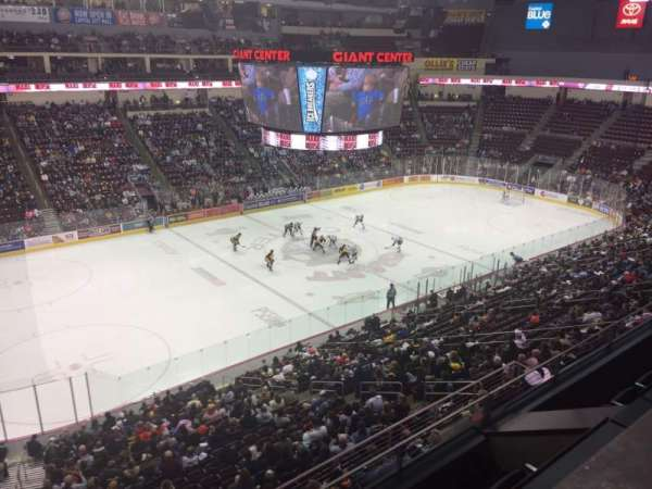 Giant Center, section 205, home of Hershey Bears
