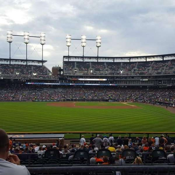 Comerica Park, section 148, home of Detroit Tigers