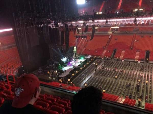American Airlines Arena, section 324, home of Miami Heat