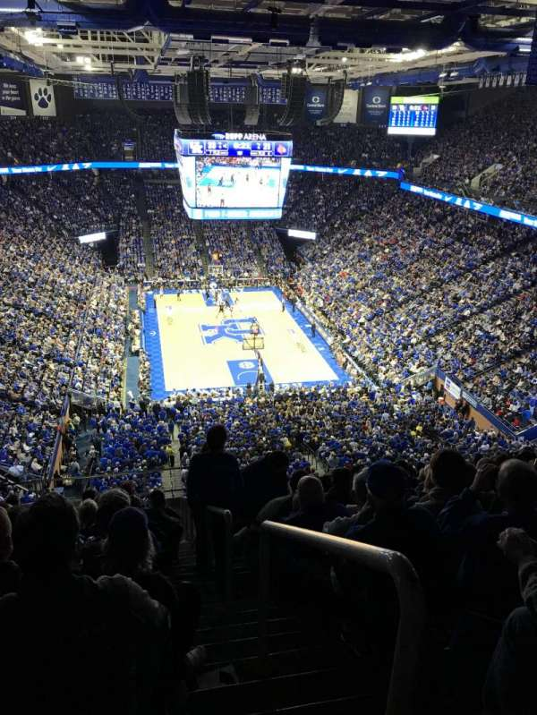 Rupp Arena, section 241, row U, seat 1, home of Kentucky Wildcats