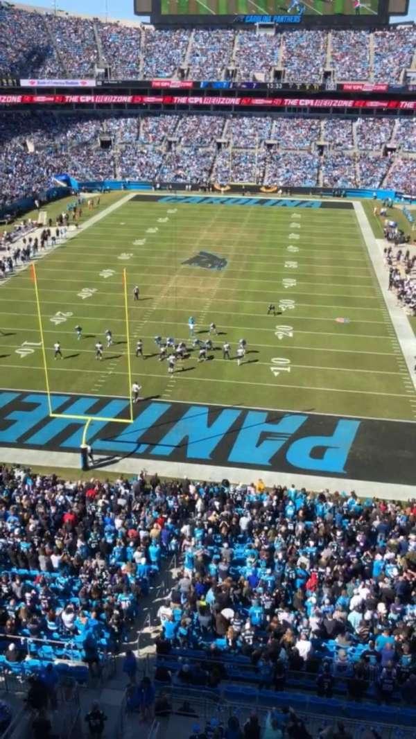 Bank of America Stadium, section 527, home of Carolina Panthers