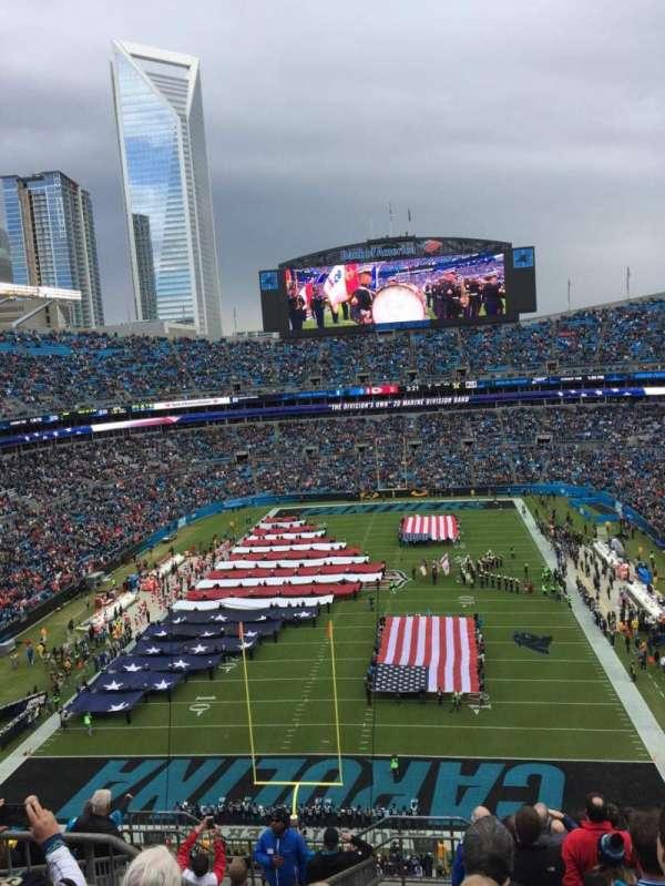 Bank of America Stadium, section 554, home of Carolina Panthers
