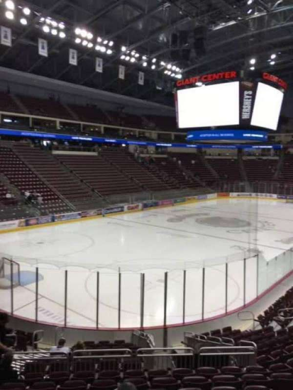 Giant Center, section 116, home of Hershey Bears
