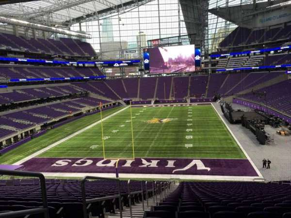 US Bank Stadium, section 118, home of Minnesota Vikings