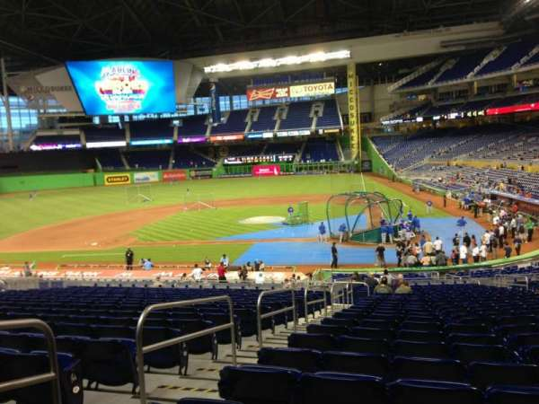 Marlins Park, section 18, home of Miami Marlins