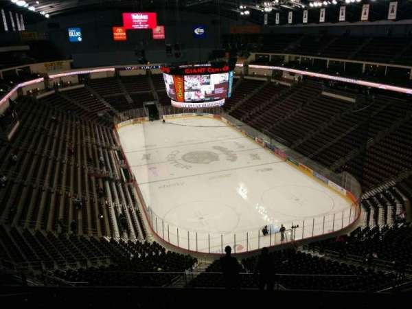 Giant Center, section 225, home of Hershey Bears