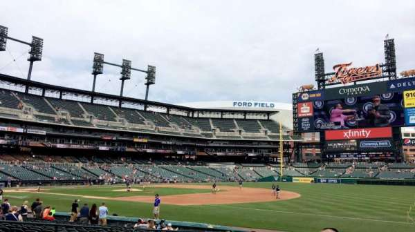 Comerica Park, section 117, home of Detroit Tigers