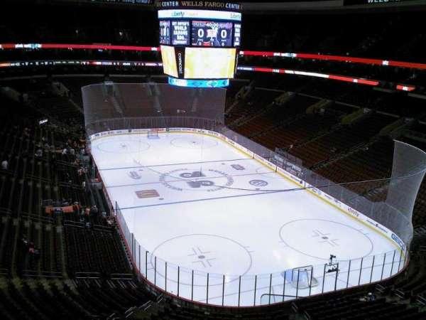 Wells Fargo Center, section 205a, home of Philadelphia Flyers