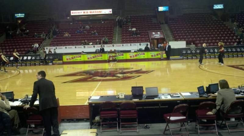 Conte Forum, section O, row 6, seat 13 - Boston College Eagles vs