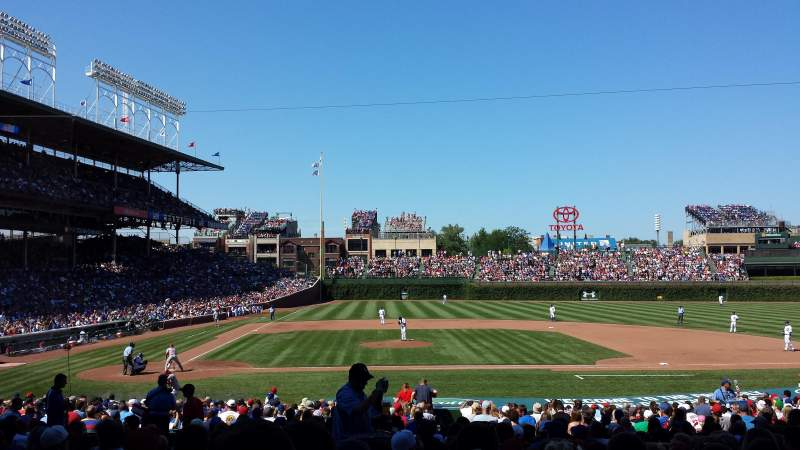 Chicago Cubs Wallpaper Iphone 6 Wrigley Field Section 127 Home Of Chicago Cubs