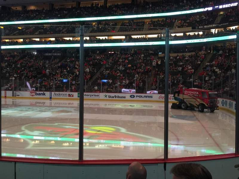 Xcel Energy Center, section 114, row 5, seat 4 - Minnesota Wild vs