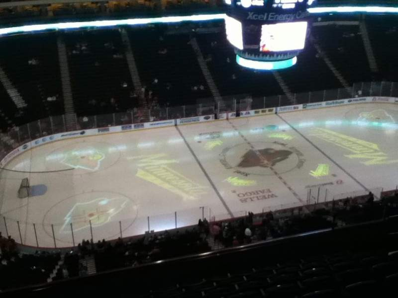 Xcel Energy Center, section 221, row 9, seat 10 - Minnesota Wild vs