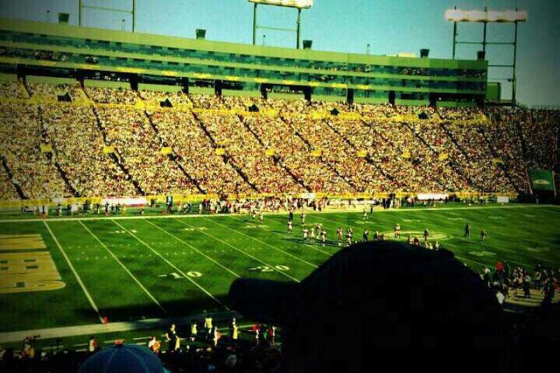 My Iphone Wallpaper Lambeau Field Section 112 Home Of Green Bay Packers