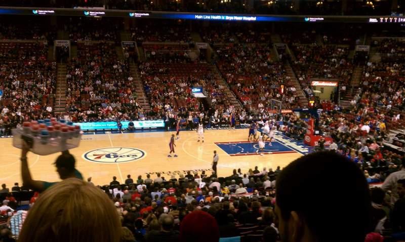Knicks Iphone Wallpaper Wells Fargo Center Section Super Box Row 1 Seat 4