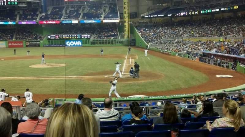 Marlins Park, section 18, row 2, seat 5 - Miami Marlins vs Tampa Bay
